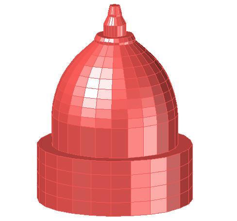 Temple dome 3D model
