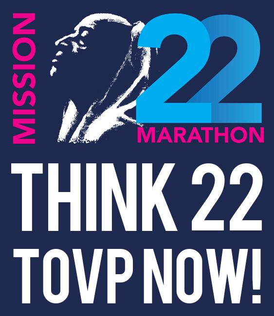 TOVP Mission 22 Marathon logo