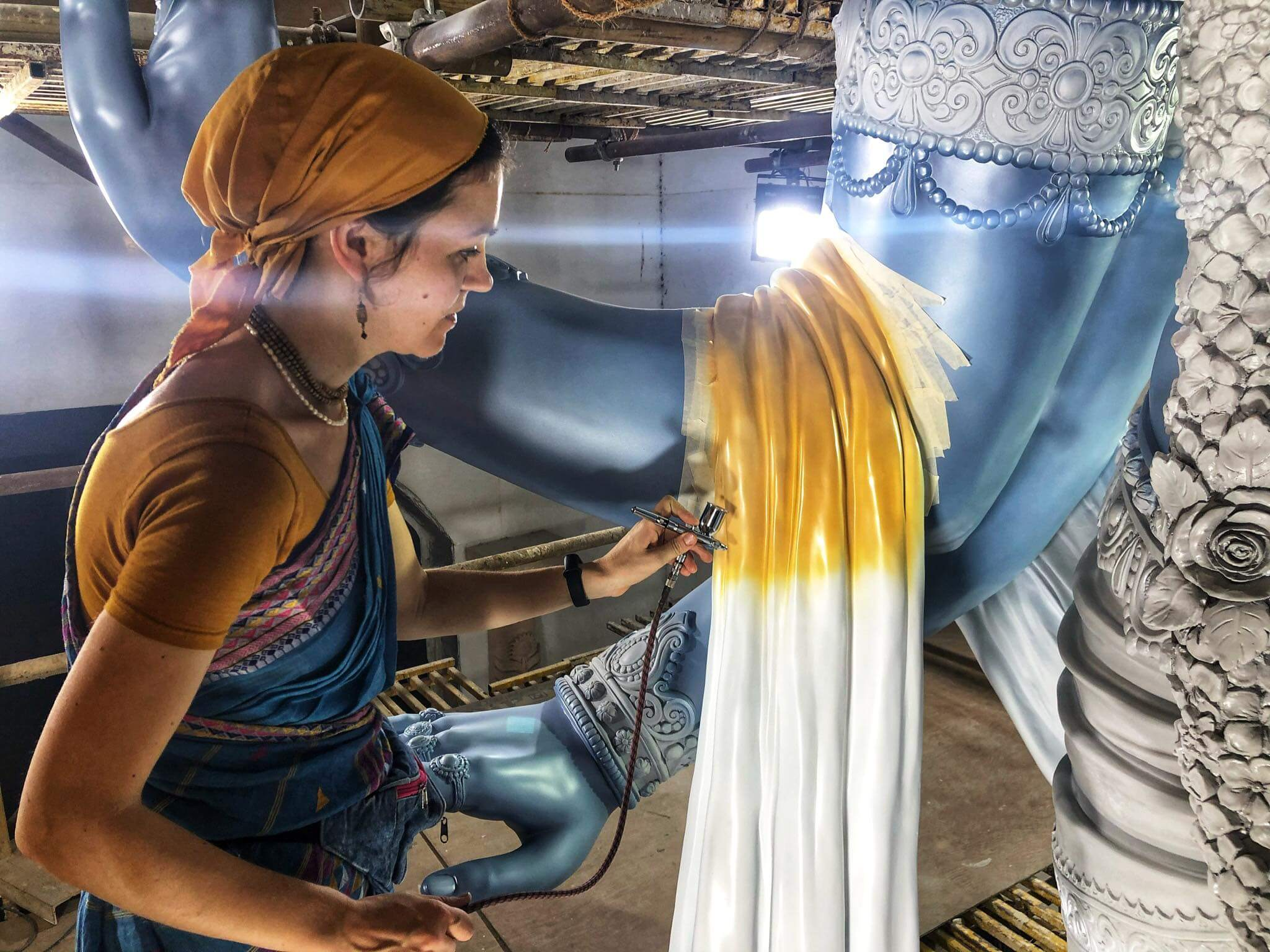 Jaya and Vijaya Detail Work by Srimati Ambhoda devi dasi